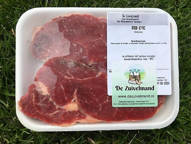 Rib eye steak - De Zuivelmand Blijham